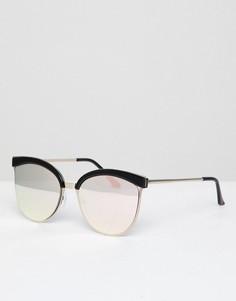 Черные зеркальные солнцезащитные очки кошачий глаз AJ Morgan - Черный