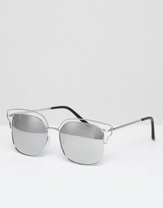 Серебристые зеркальные солнцезащитные очки-авиаторы AJ Morgan - Серебряный