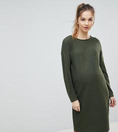 Фактурное платье-джемпер ASOS Maternity - Зеленый