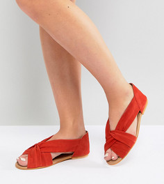 Летние замшевые туфли для широкой стопы ASOS JANEL - Красный