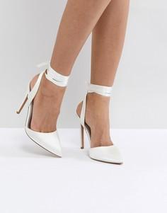 Туфли на высоком каблуке ASOS PIED PIPER - Кремовый