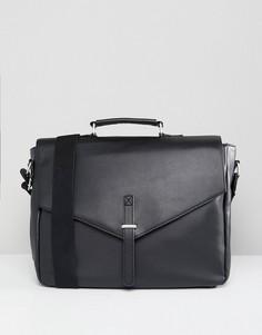 Черный портфель из искусственной кожи ASOS - Черный