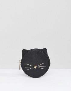 Кошелек с котом ASOS - Черный