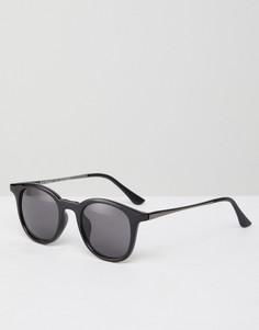 Круглые солнцезащитные очки в черной оправе AJ Morgan - Черный