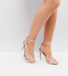 Босоножки на каблуке для широкой стопы ASOS HOMECOMING - Серебряный