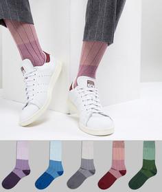 Набор из 5 пар носков в рубчик ASOS DESIGN - Мульти