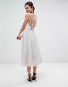 Пляжное платье миди из тюля ASOS - Серый