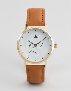 Часы с дополнительными циферблатами и кожаным ремешком ASOS DESIGN - Синий