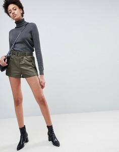 Нейлоновые спортивные шорты с поясом ASOS - Зеленый