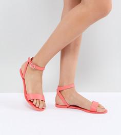 Силиконовые сандалии ASOS FELINA - Оранжевый