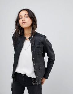 Кожаная куртка Goosecraft - Черный