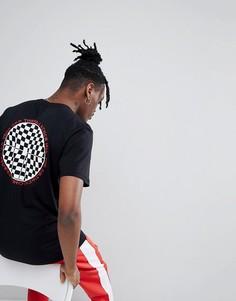 Черная футболка с шахматным принтом на спине Vans VA3H6JBLK - Черный