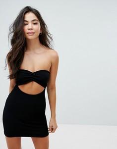 Пляжное платье бандо ASOS - Черный