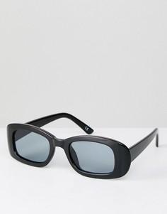 Черные квадратные солнцезащитные очки в стиле 90-х ASOS - Черный