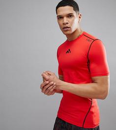Красная классическая беговая футболка с короткими рукавами FIRST - Красный