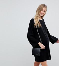 Свободное платье с широкими рукавами ASOS DESIGN Maternity - Черный