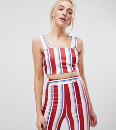 Кроп-топ в полоску Fashion Union Tall Co-Ord - Красный