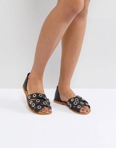 Кожаные летние туфли ASOS JUSTIFY - Черный
