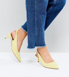 Туфли на каблуке-рюмочке для широкой стопы ASOS SPIRIT - Желтый