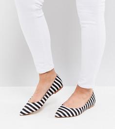 Балетки для широкой стопы с острым носком ASOS LATCH - Мульти