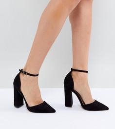 Туфли на высоком каблуке с острым носком ASOS PEBBLE - Черный