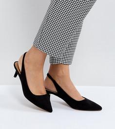 Туфли на каблуке-рюмочке с ремешком через пятку ASOS SPIRIT - Черный