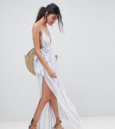 Пляжное платье макси в полоску ASOS TALL - Мульти