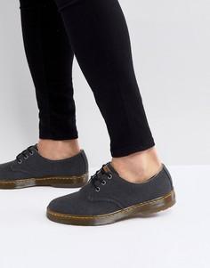 Туфли из прочной парусины с 3 парами люверсов Dr.Martens Delray - Черный