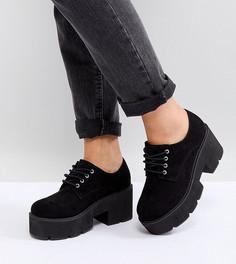 Туфли на каблуке для широкой стопы со шнуровкой ASOS MEGA - Черный