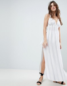Пляжное платье макси в полоску ASOS - Мульти