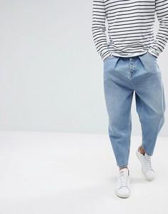Голубые джинсы в винтажном стиле ASOS DESIGN - Синий