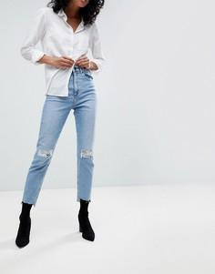 Рваные узкие джинсы в винтажном стиле ASOS FARLEIGH - Синий