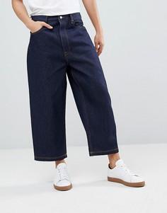 Широкие укороченные джинсы ASOS DESIGN - Синий