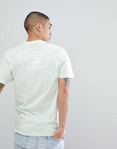 Зеленая футболка с принтом на спине Vans VA3H5KPE6 - Зеленый