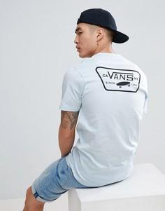 Синяя футболка с принтом на спине Vans Full Patch VA3H5KPFD - Синий