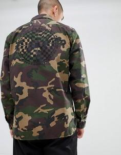 Зеленая куртка с принтом на спине Vans Arlington VA3H4GPH8 - Зеленый