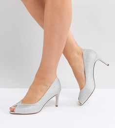 Туфли для широкой стопы на каблуке ASOS DESIGN Summer - Серебряный