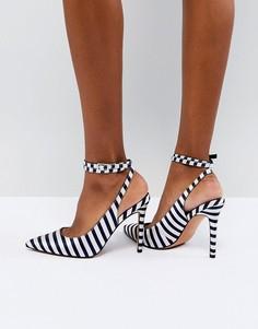 Туфли на высоком каблуке с острым носом ASOS DESIGN - Мульти