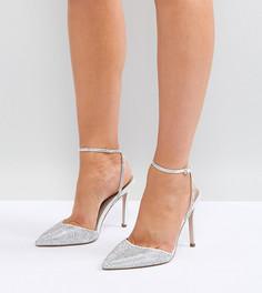 Туфли на высоком каблуке для широкой стопы с отделкой ASOS PHARAOH Bridal - Кремовый