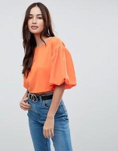 Укороченный топ Boohoo - Оранжевый