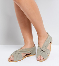 Летние замшевые туфли для широкой стопы ASOS JANEL - Серый