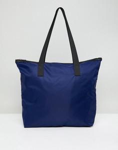 Темно-синяя сумка-тоут с молнией ASOS DESIGN - Темно-синий