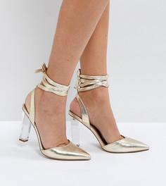 Туфли на высоком каблуке ASOS PIANO - Золотой