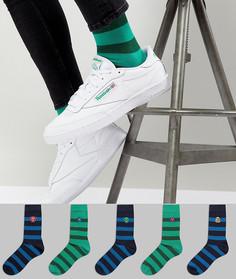 Набор из 5 пар носков с отделкой в виде монстров ASOS DESIGN - Мульти