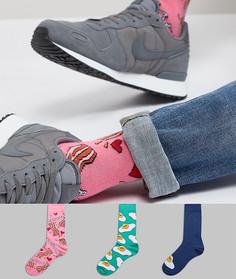 Набор из 3 пар носков с рисунком ASOS - Мульти