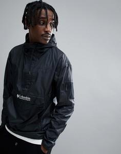 Черная легкая складываемая куртка с капюшоном Columbia Challenger - Черный