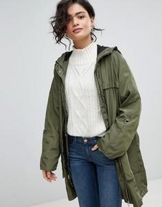 Непромокаемая куртка с капюшоном Vero Moda - Зеленый