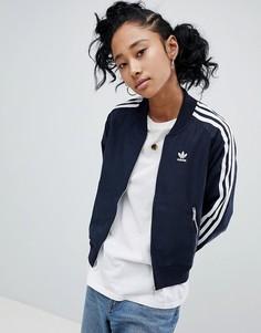 Спортивная куртка с тремя полосами Adidas - Черный