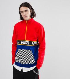 Красный свитшот в стиле колор блок на молнии с шахматным узором на кармане Vans эксклюзивно для ASOS - Красный