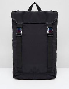 Черный походный рюкзак с переливающимися пряжками ASOS DESIGN - Черный